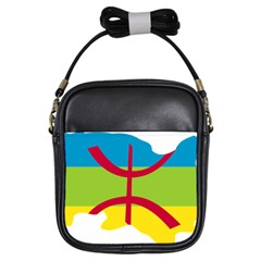 Kabylie Flag Map Girls Sling Bag