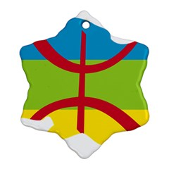 Kabylie Flag Map Snowflake Ornament (two Sides)