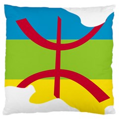 Kabylie Flag Map Large Cushion Case (two Sides)