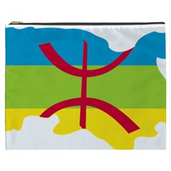 Kabylie Flag Map Cosmetic Bag (xxxl)