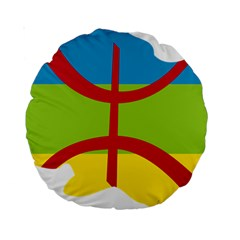 Kabylie Flag Map Standard 15  Premium Round Cushions