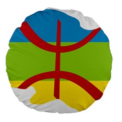 Kabylie Flag Map Large 18  Premium Round Cushions