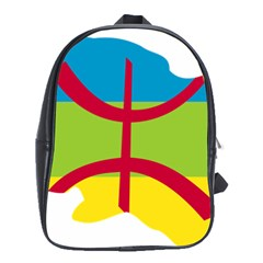 Kabylie Flag Map School Bag (xl)