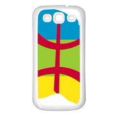 Kabylie Flag Map Samsung Galaxy S3 Back Case (white)