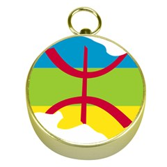 Kabylie Flag Map Gold Compasses