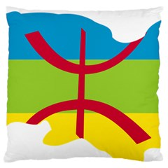 Kabylie Flag Map Large Flano Cushion Case (two Sides)