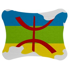 Kabylie Flag Map Jigsaw Puzzle Photo Stand (bow)