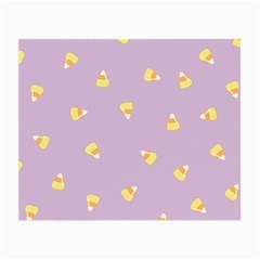 Candy Corn (purple) Small Glasses Cloth (2-side) by JessisArt