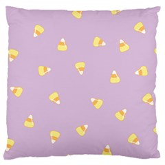 Candy Corn (purple) Large Cushion Case (two Sides) by JessisArt