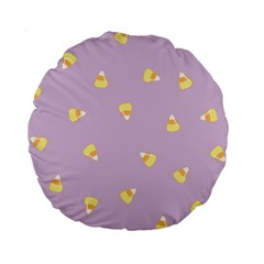 Candy Corn (purple) Standard 15  Premium Round Cushions