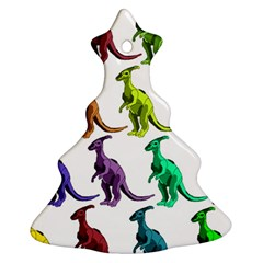 Multicolor Dinosaur Background Ornament (christmas Tree)
