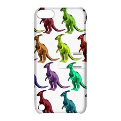 Multicolor Dinosaur Background Apple Ipod Touch 5 Hardshell Case With Stand by Jojostore