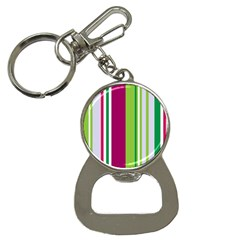 Beautiful Multi Colored Bright Stripes Pattern Wallpaper Background Bottle Opener Key Chains