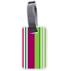 Beautiful Multi Colored Bright Stripes Pattern Wallpaper Background Luggage Tags (two Sides) by Jojostore