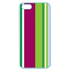 Beautiful Multi Colored Bright Stripes Pattern Wallpaper Background Apple Seamless Iphone 5 Case (color) by Jojostore