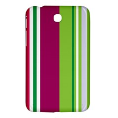 Beautiful Multi Colored Bright Stripes Pattern Wallpaper Background Samsung Galaxy Tab 3 (7 ) P3200 Hardshell Case  by Jojostore