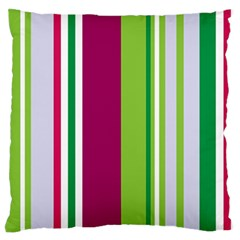 Beautiful Multi Colored Bright Stripes Pattern Wallpaper Background Large Flano Cushion Case (one Side)