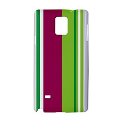 Beautiful Multi Colored Bright Stripes Pattern Wallpaper Background Samsung Galaxy Note 4 Hardshell Case