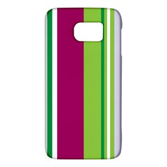 Beautiful Multi Colored Bright Stripes Pattern Wallpaper Background Samsung Galaxy S6 Hardshell Case