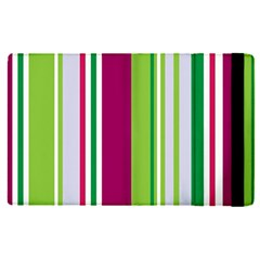 Beautiful Multi Colored Bright Stripes Pattern Wallpaper Background Apple Ipad Pro 9 7   Flip Case