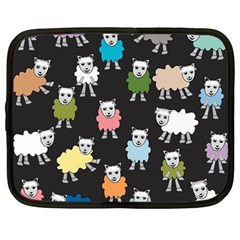 Sheep Cartoon Colorful Netbook Case (large) by Jojostore