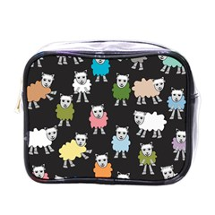 Sheep Cartoon Colorful Mini Toiletries Bag (one Side)