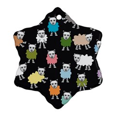 Sheep Cartoon Colorful Ornament (snowflake) by Jojostore