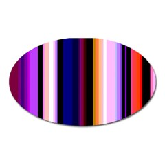 Fun Striped Background Design Pattern Oval Magnet by Jojostore