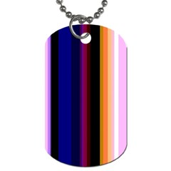 Fun Striped Background Design Pattern Dog Tag (one Side)