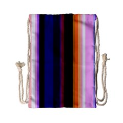 Fun Striped Background Design Pattern Drawstring Bag (small) by Jojostore