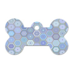 Bee Hive Background Dog Tag Bone (two Sides)