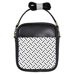 Geometric Pattern Girls Sling Bag