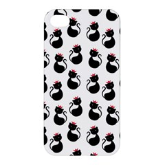 Cat Seamless Animal Pattern Apple Iphone 4/4s Premium Hardshell Case by Jojostore