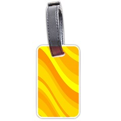 Orange Yellow Background Luggage Tags (one Side)