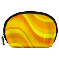 Orange Yellow Background Accessory Pouch (large)
