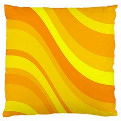 Orange Yellow Background Standard Flano Cushion Case (one Side) by Jojostore