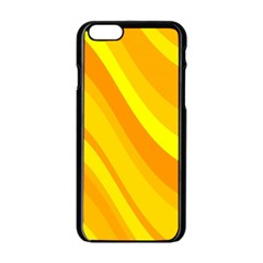 Orange Yellow Background Apple Iphone 6/6s Black Enamel Case by Jojostore