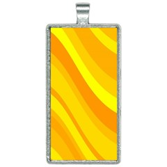 Orange Yellow Background Rectangle Necklace by Jojostore