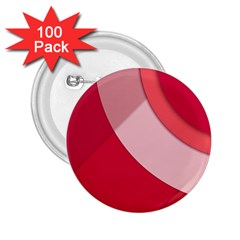 Red Material Design 2 25  Buttons (100 Pack)