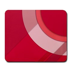 Red Material Design Large Mousepads by Jojostore