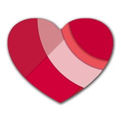 Red Material Design Heart Mousepads by Jojostore