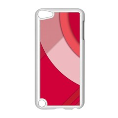 Red Material Design Apple Ipod Touch 5 Case (white)