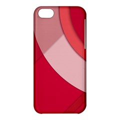 Red Material Design Apple Iphone 5c Hardshell Case
