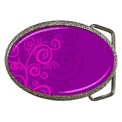 Floraly Swirlish Purple Color Belt Buckles