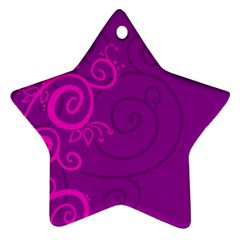 Floraly Swirlish Purple Color Star Ornament (two Sides) by Jojostore