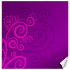 Floraly Swirlish Purple Color Canvas 12  X 12  by Jojostore