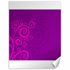 Floraly Swirlish Purple Color Canvas 12  X 16  by Jojostore