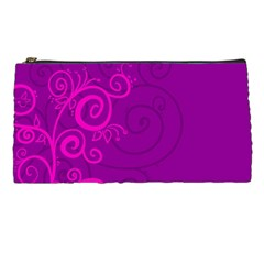 Floraly Swirlish Purple Color Pencil Cases