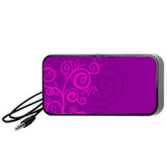 Floraly Swirlish Purple Color Portable Speaker by Jojostore