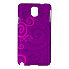 Floraly Swirlish Purple Color Samsung Galaxy Note 3 N9005 Hardshell Case by Jojostore